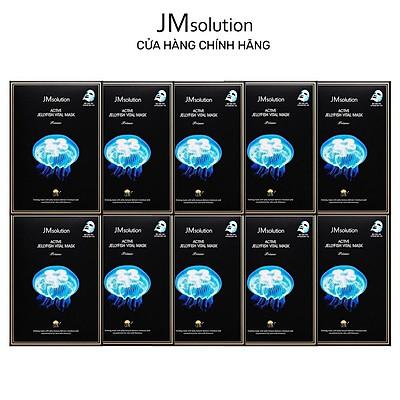 Combo 10 Mặt Nạ Sứa Biển JMSolution Active Jellyfish Vital Mask Thanh Lọc, Giải Độc Da 33ml x10