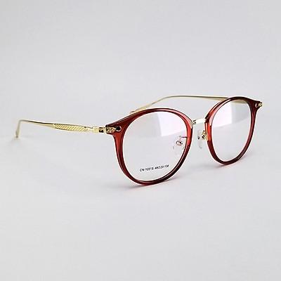 Gọng kính cận tròn nữ màu đỏ & màu hồng ,from mắt tròn, càng kim loại mảnh nhẹ, không kén sz mặt ( kèm hộp & khăn lau )