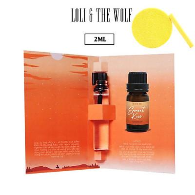 Nước hoa vùng kín nữ - Sunset Kiss Eau De Parfum - chai 2ml - LOLI & THE WOLF, Tặng Kèm Mút Rửa Mặt