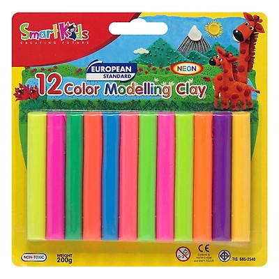 Sáp Nặn Học Tập 12 Màu Neon SMARTKIDS SK-BL12N