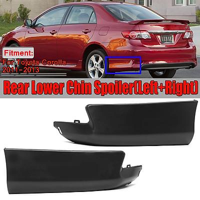 For Toyota Corolla 2011-13 S Style Rear Aprons Spat Bumper Lip Spoiler Body Kit