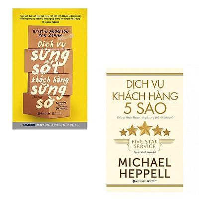 Bộ 2 cuốn sách về dịch vụ khách hàng: Dịch Vụ Khách Hàng 5 Sao - Dịch Vụ Sửng Sốt Khách Hàng Sững Sờ