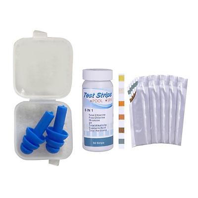 6-in-1 Pool Test Strips Chlorine Dip Test Strip Tub SPA Swimming Pool PH Test Paper Tester Chlorine Bromine, pH, Total Alkalinity Hardness Check Tool