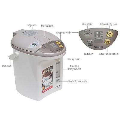 Bình Thủy Điện Panasonic NC-EG3000CSY - Bảo Hành 12 Tháng - Hàng Chính Hãng