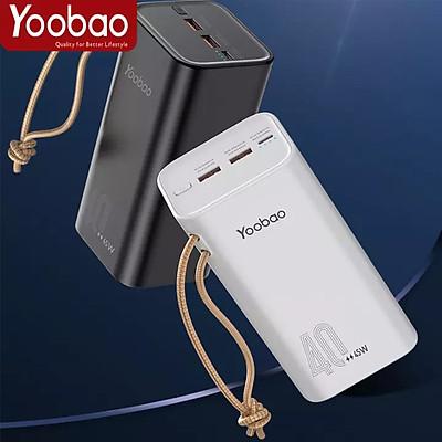 (Hàng chính hãng) Pin sạc dự phòng Yoobao H40, dung lượng 40000mAh, công suất 45W sạc nhanh cho điện thoại , macbook, laptop. Thích hợp cho chuyến du lịch xa, công tác,...