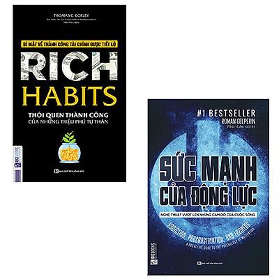 Combo Sách Hay Nhất Về Quản Trị Năng Lượng Bản Thân - Chữa Bệnh Lười Và Trì Hoãn: Rich Habits - Thói Quen Thành Công + Sức Mạnh Của Động Lực