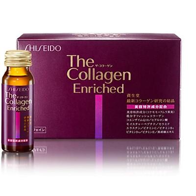 Thực phẩm chức năng Nước uống đẹp da ngừa lão hóa Collagen Shiseido Enriched Nhật Bản (50ml x 10 chai)