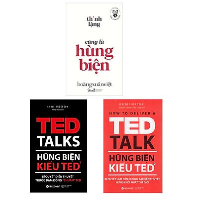 """Combo Sách Hay Về Hùng Biện: Hùng Biện Kiểu Ted 1 - Bí Quyết Diễn Thuyết Trước Đám Đông """"Chuẩn"""" Ted + Hùng Biện Kiểu Ted 2 - Bí Quyết Làm Nên Những Bài Diễn Thuyết Hứng Khởi Nhất Thế Giới + Học Làm Người - Thinh Lặng Cũng Là Hùng Biện"""