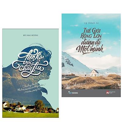 Combo 2 cuốn sách hay nhất về văn học: Hẹn Hò Với Châu Âu + Thế Giới Rộng Lớn Đừng Đi Một Mình ( Tặng kèm Bookmark Happy Life)