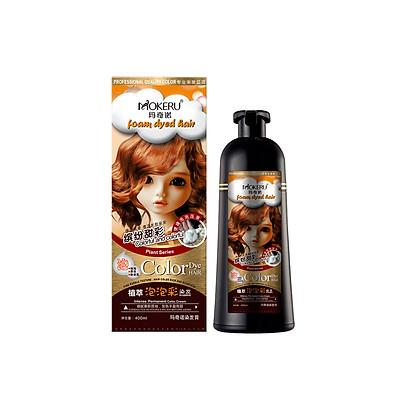 Dầu gội nhuộm tóc thảo dược dạng bọt cao cấp nhiều màu MOKERU