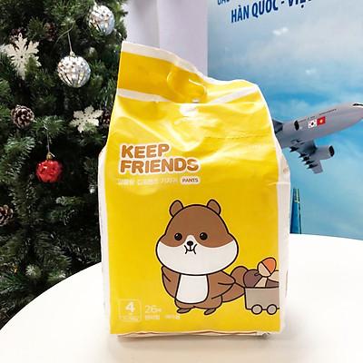 Tã quần nội địa Hàn Quốc Enblanc Keep Friend size 4 bé gái (L 26 miếng)