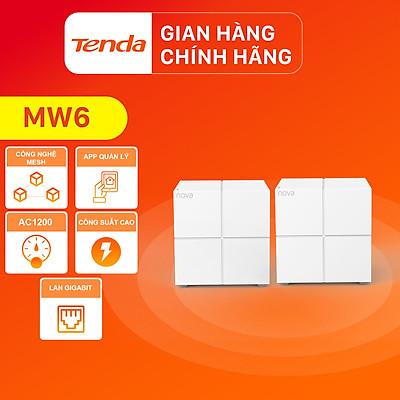 Hệ thống Wifi Nova Mesh cho gia đình Tenda MW6 Chuẩn AC 1200Mbps (2 node) - Hàng Chính Hãng