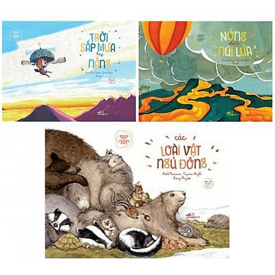 Combo sách khoa học chẳng khó : Sắp trời mưa hay nắng + Nóng như là núi lửa + Các loài vật ngủ đông - Tặng kèm bookmark thiết kế