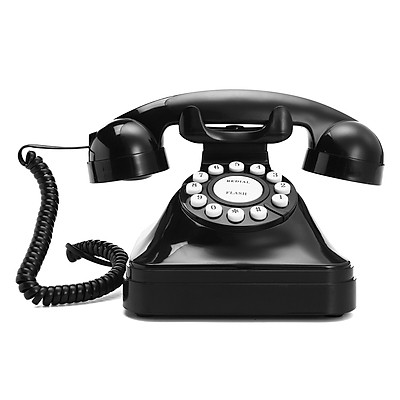 "Novelty Black ""Retro"" Corded / Wired Land Line Phone BT Virgin Sky Talk Talk"