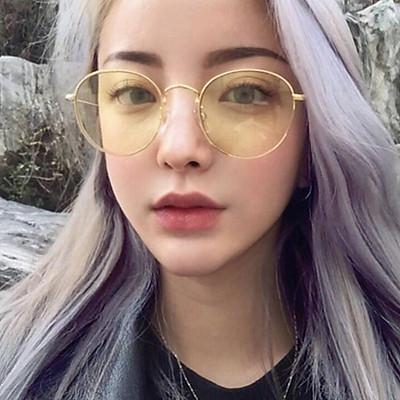 Unisex Fashionable Sunglasses Thin Metal Frames Eyewear