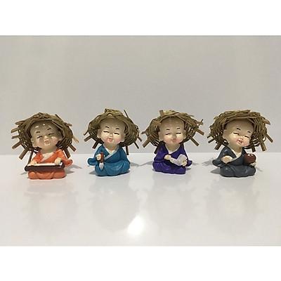 Bộ tượng 4 chú tiểu  Cầm – Kỳ - Thư – Họa