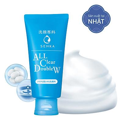 Sữa Rửa Mặt Tẩy Trang 2 Tác Dụng Senka All Clear Double Wash 14851 (120g)