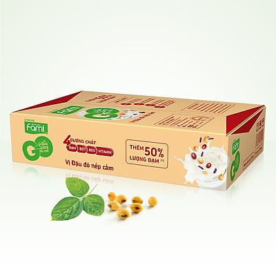 Thùng Sữa Đậu Nành Famigo Đậu Đỏ Nếp Cẩm (200ml x 36 Hộp)