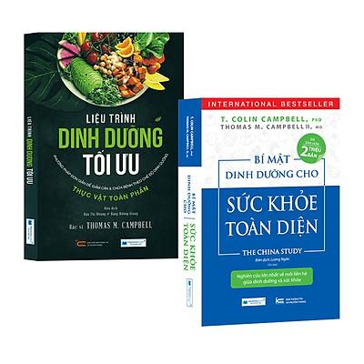 Combo 2 Cuốn Sách Dinh Dưỡng Hay: Bí Mật Dinh Dưỡng Cho Sức Khỏe Toàn Diện (Tái Bản) + Liệu Trình Dinh Dưỡng Tối Ưu - Phương Pháp Đơn Giản Để Giảm Cân Và Chữa Bệnh Theo Chế Độ Dinh Dưỡng Thực Vật Toàn Phần