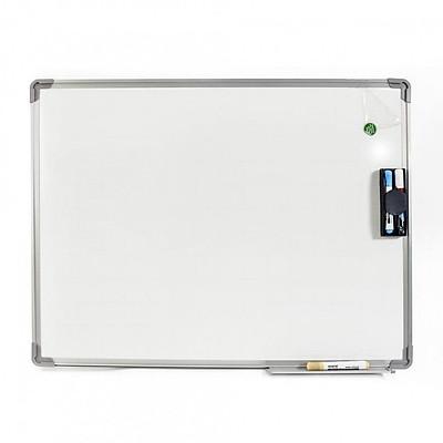 Bảng từ trắng viết bút lông Hàn Quốc 60x100cm (Tặng bút viết, bông lau, nam châm)