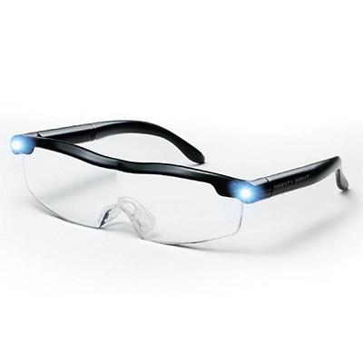 Fun Mighty Sight LED Presbyopia Light Glasses Magnifier LED Night Vision Luminous Glasses Portable Glasses Lenses with Illumination