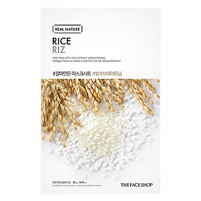 Mặt Nạ Giấy The Face Shop Real Nature Rice Face Mask 32500394 (20g)
