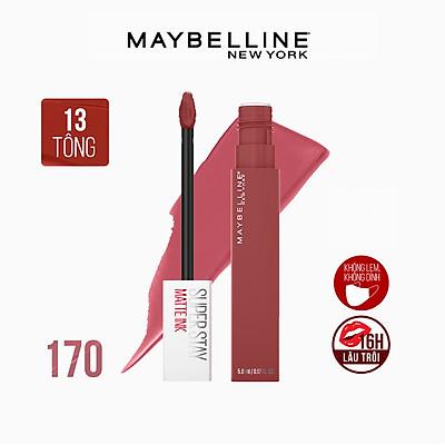 Son Kem Lì 16h Lâu Trôi Maybelline New York Super Stay Matte Ink Lipstick 5ml 170 Initiator