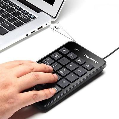 Bàn Phím Máy Tính ,Bàn Phím Chơi Game ,Bàn Phím Số ,Bàn Phím Mini ,Bàn Phím Số Có Dây DIVIPARD D500 Cổng Kết Nối USB-4040- Hàng Nhập Khẩu