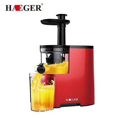 Máy ép trái cây hoa quả tốc độ chậm Haeger-350w - hàng chính hãng