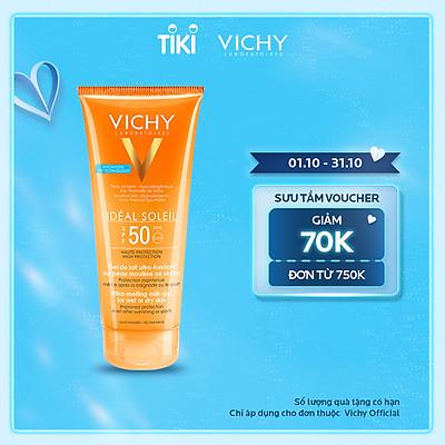 Kem chống nắng toàn thân dạng gel sữa không gây nhờn rít Vichy Ideal Soleil Body Milk Gel SPF50 UVB+UVA 200ml