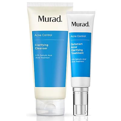 Serum giảm mụn thông minh Murad Outsmart Acne Clarifying Treatment (50ml) TẶNG sữa rửa mặt cho da mụn Murad Clarifying cleanser 200ml