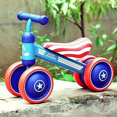 Xe chòi chân B.Duck yên da cho bé từ 1 đến 2 tuổi - Xe thăng bằng khung thép, bánh cao su an toàn cho trẻ DC019
