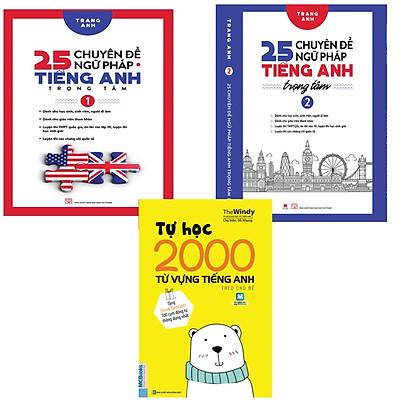 combo 25 Chuyên đề ngữ pháp tiếng anh trọng tâm tập 1 và 2 + Tự Học 2000 Từ Vựng Tiếng Anh Theo Chủ Đề