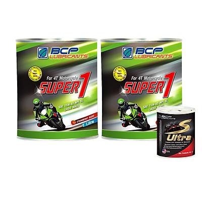 [MUA 2 TẶNG 1] Nhớt xe máy dành cho xe số 1L JASO MA2-  Công thức cải tiến - mùi dâu, màu đỏ - Tặng vệ sinh buồng đốt