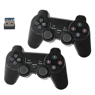 Bộ tay cầm chơi game đôi không dây 706wd - cho PC, Laptop, Tivi Android, Android box (2 cái chung 1 usb)