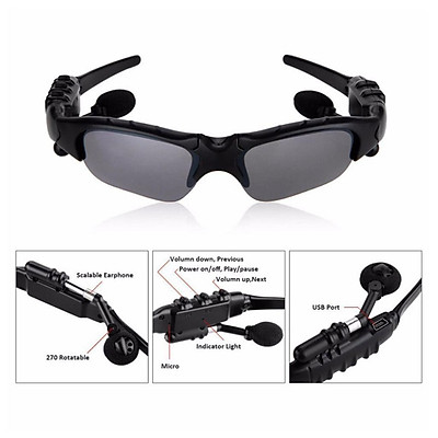 Wireless Sports Bluetooth 4.2 Sunglasses Polarized Glasses Headset Headphone for Running Cycling