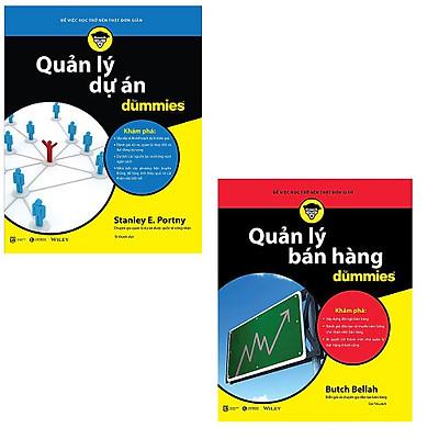 Bộ 2 cuốn sách Dummies về quản lý: Quản Lý Bán Hàng For Dummies - Quản Lý Dự Án For Dummies