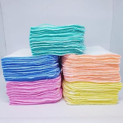 Gói 50 Khăn sữa vải gạc Thanh Thanh Dày 4 lớp 25x30cm 100% cotton (Đồ dùng vệ sinh cho bé)