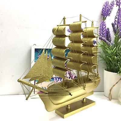 Mô hình thuyền gỗ trang trí Le Belem - thân 25cm - vàng ánh kim
