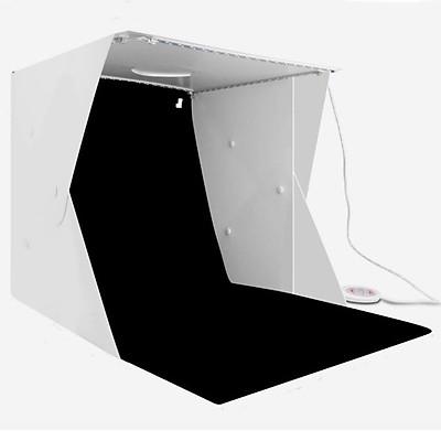 Hộp chụp sản phẩm 40cm x 40cm tích hợp 4 dây đèn Led phông nền 6 màu