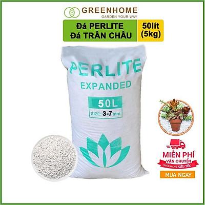 Đá Perlite 100l (10kg), đá trân châu trồng hồng, sen đá, thuỷ canh giàu khoáng chất, tăng độ tơi xốp