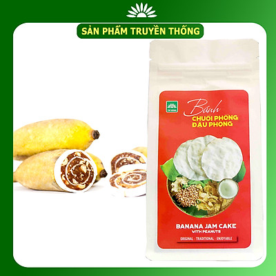 Bánh chuối phồng đậu phộng Tư Bông túi 100g - món ăn vặt truyền thống thơm ngon ít ngọt chánh gốc Đồng Tháp