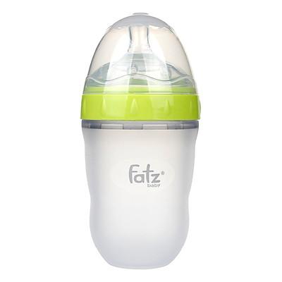 Bình Sữa Silicon Cổ Siêu Rộng 240ml Fatzbaby FB0240C