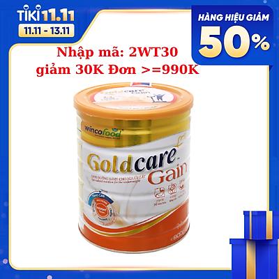 Sữa bột Wincofood Goldcare Gain lon 900g: sản phẩm dành cho người gầy thích hợp cho mọi đối tượng và trẻ từ 1 tuổi trở lên giúp tăng cân và tăng cường thể lực
