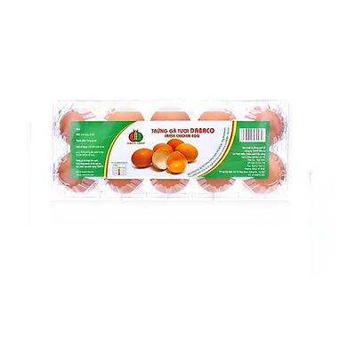 Trứng gà tươi Dabaco vỉ 10q