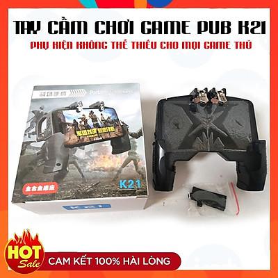 Tay Cầm Chơi Game K21 ️RẺ VÔ ĐỊCH️ Kèm Nút bấm cho game PUBG, ROS, Free Fire Gắn Điện Thoại Tiện Lợi