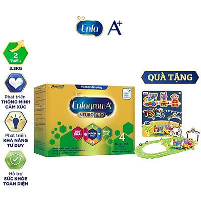 Bộ 1 hộp Sữa bột Enfagrow A+ Neuropro 4 Vị thanh mát với dưỡng chất DHA & MFGM cho trẻ từ 2-6 tuổi– 3.3kg – Tặng 1 đồ chơi đoàn tàu gấu Koala