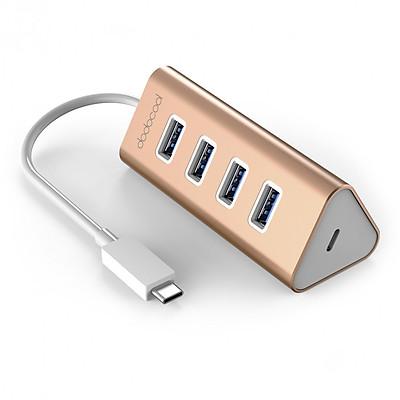 Ổ Cắm 4 Lỗ USB 3.0 Với Cổn Sạc USB-C Cho Macbook Dodocool