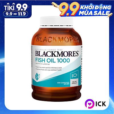 Dầu Cá Blackmores Fish Oil 1000mg - 400 Viên (Hàng Nhập Khẩu Từ Úc)