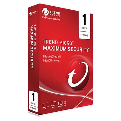 Phần Mềm Diệt Virus Trend Micro Maximum Security - 1PC 12 tháng - Hàng chính hãng